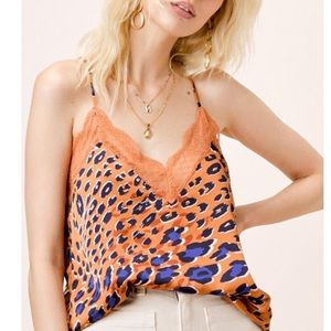 Wild thing leopard lace cami